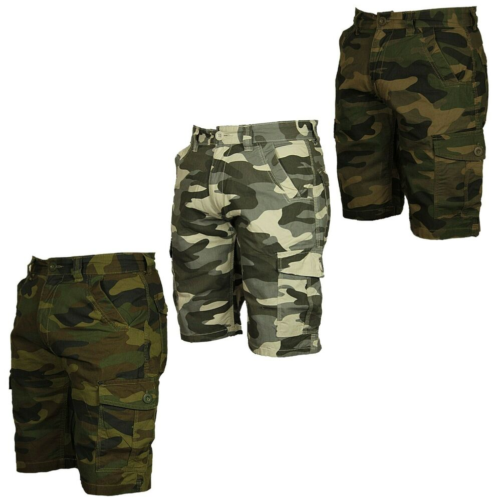ff00147728 Details about BNWT MENS BIG KING SIZE CAMO CARGO SHORTS FORGE GREY CAMO  KHAKI COLOURS 28 -70