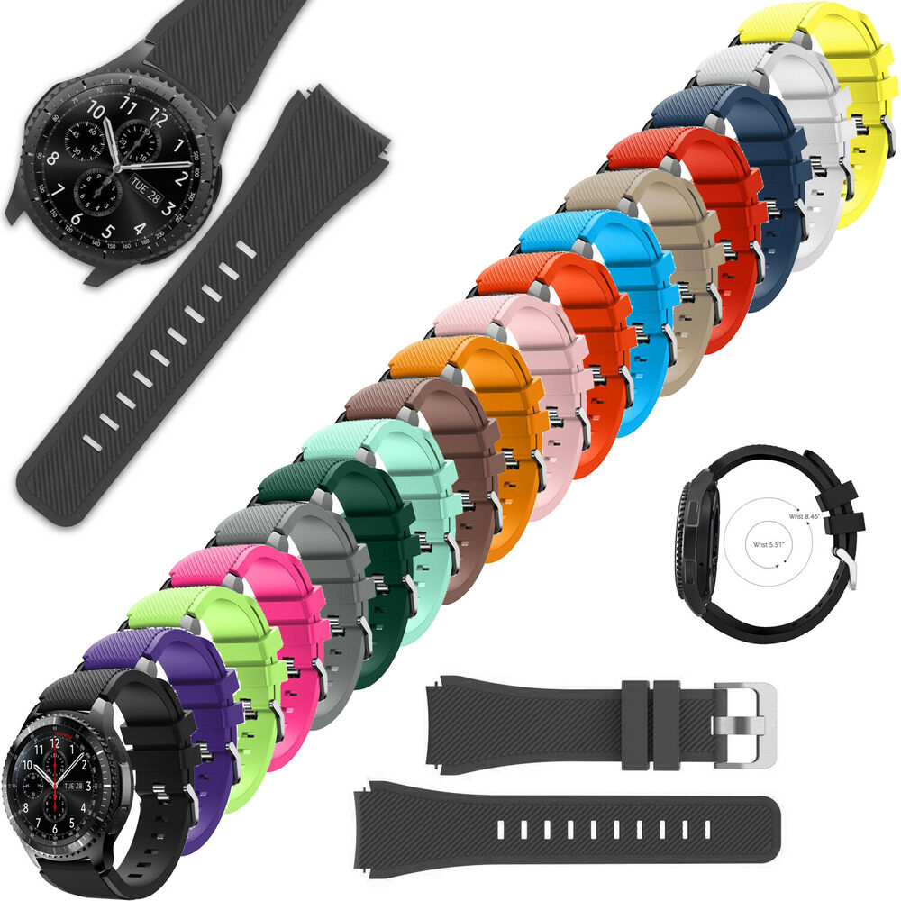 silicone bracelet watch replacement for samsung gear s3 frontier classic band ebay. Black Bedroom Furniture Sets. Home Design Ideas