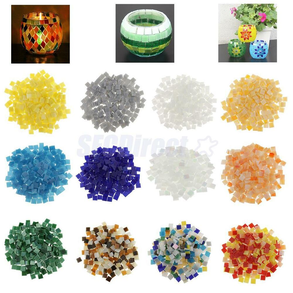 250x vitreous glass mosaic tiles pieces for diy crafts