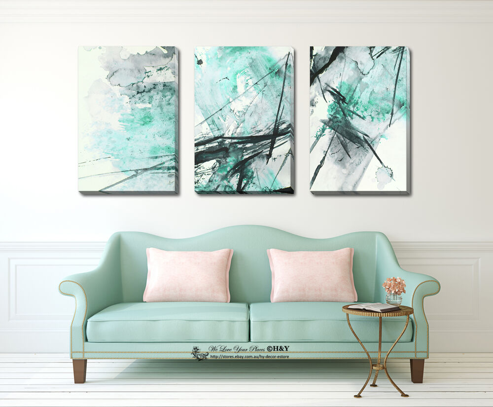 5 colours abstract stretched canvas print framed wall art for Prints for home decor