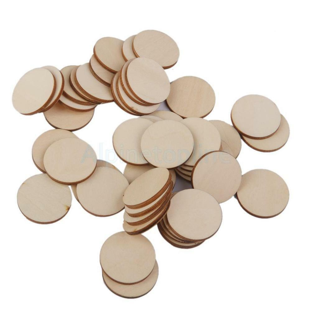 Wooden craft circles round disc unfinished wood cutouts for Unfinished wood pieces for crafts