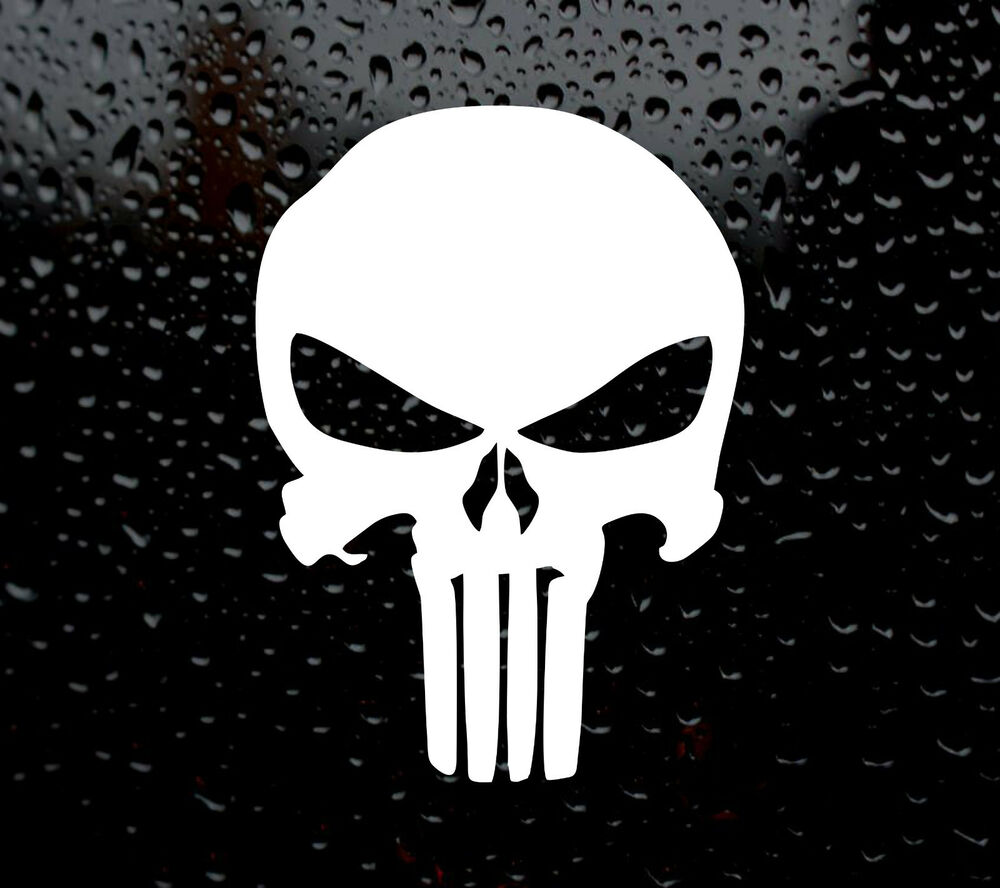 Large punisher decal logo for car van laptop vinyl sticker marvel vw super hero ebay