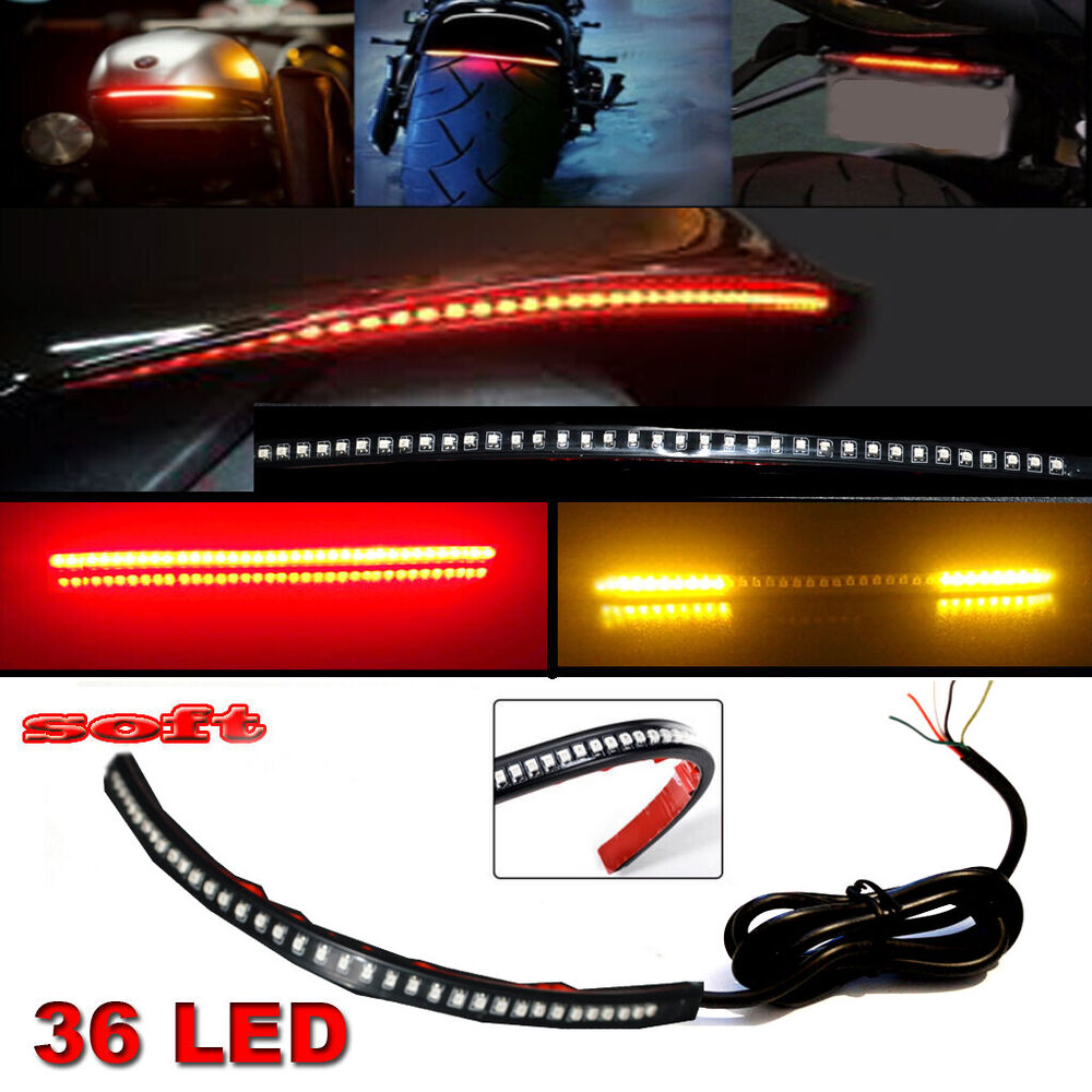12 Quot Bendable Universal Motorcycle Led Light Strip Tail
