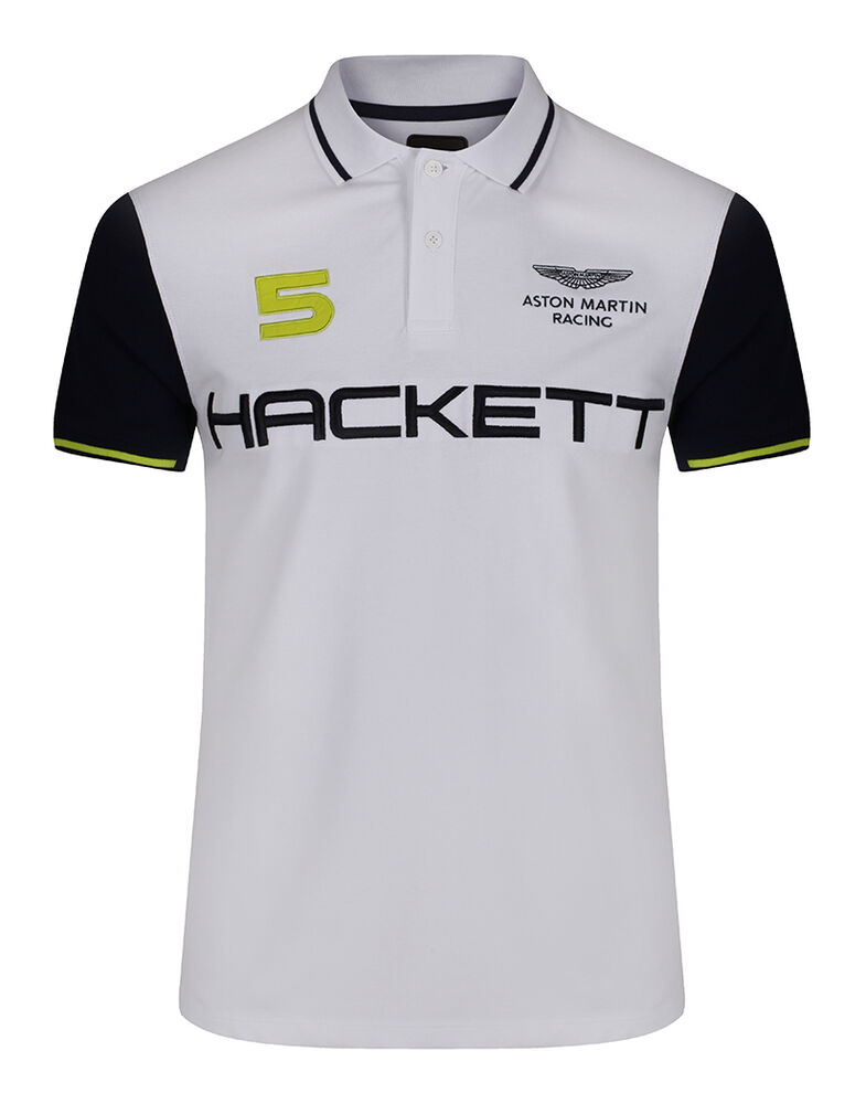 hackett men 39 s aston martin racing wings polo shirt white. Black Bedroom Furniture Sets. Home Design Ideas