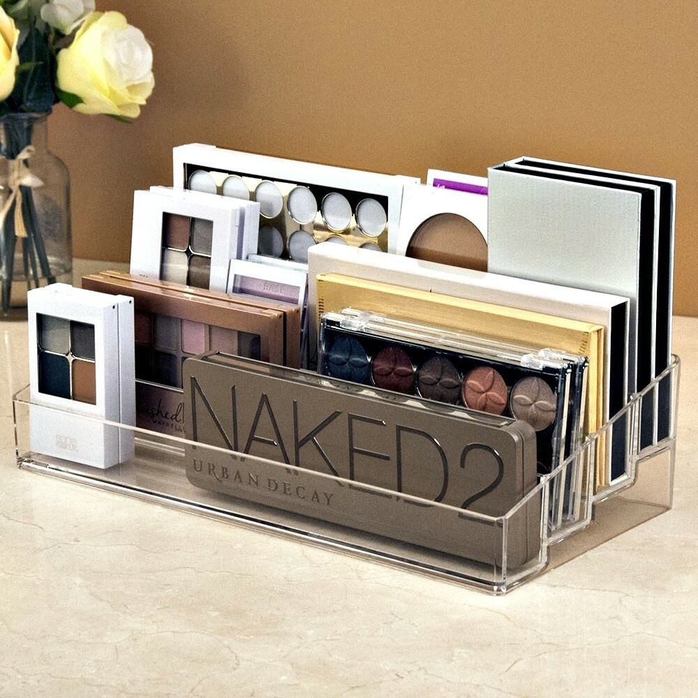 Clear Multi Level Plastic Makeup Cosmetic Palette Organizer Holder And Beauty Ebay