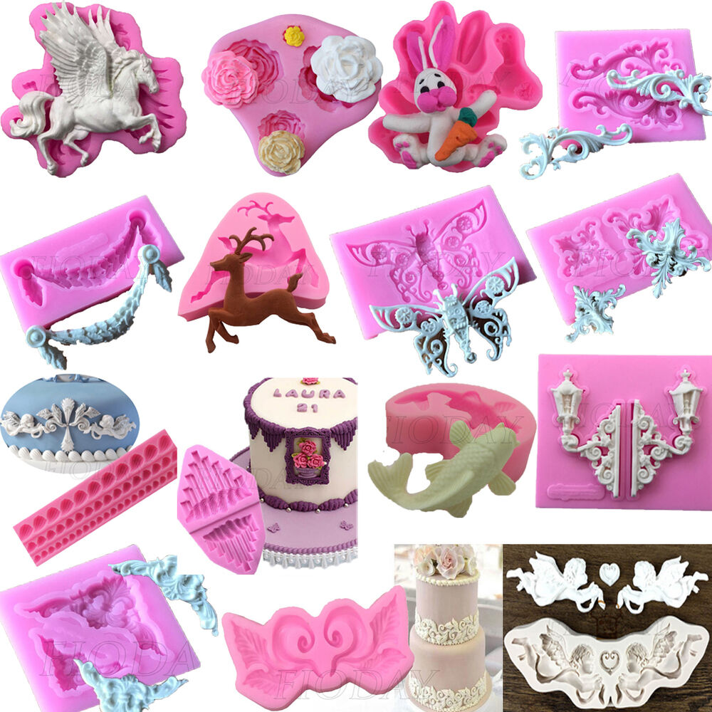 3D Silicone Fondant Mould Cake Mold Chocolate Baking ...