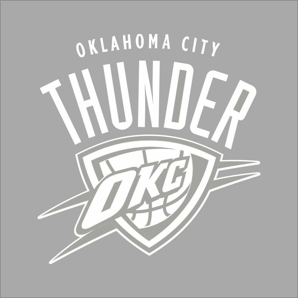 Details about okc thunder nba team logo color vinyl decal sticker car window wall