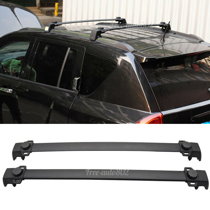 Fit For 11 15 Jeep Compass OE Style Black Roof Rack Cross Bar Aluminum