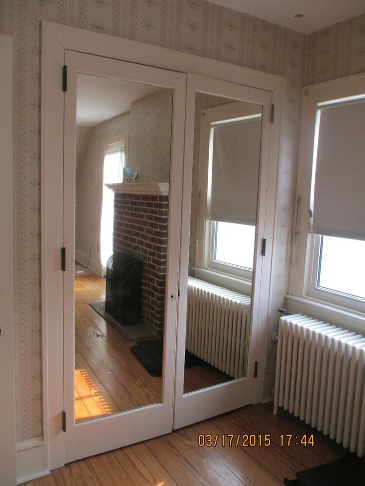 Interior closet door with built in mirror french doors 4 for 8ft french doors