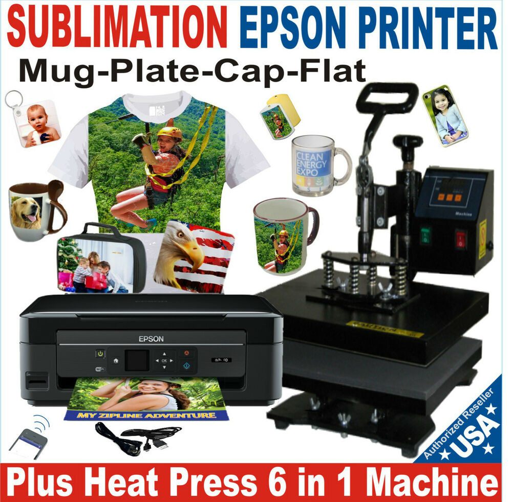 6 In 1 Heat Press Transfer T Shirt Hat Mug 15x15 Printer