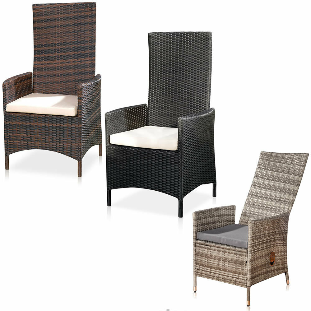 verstellbarer garten relaxsessel polyrattan gartenm bel. Black Bedroom Furniture Sets. Home Design Ideas