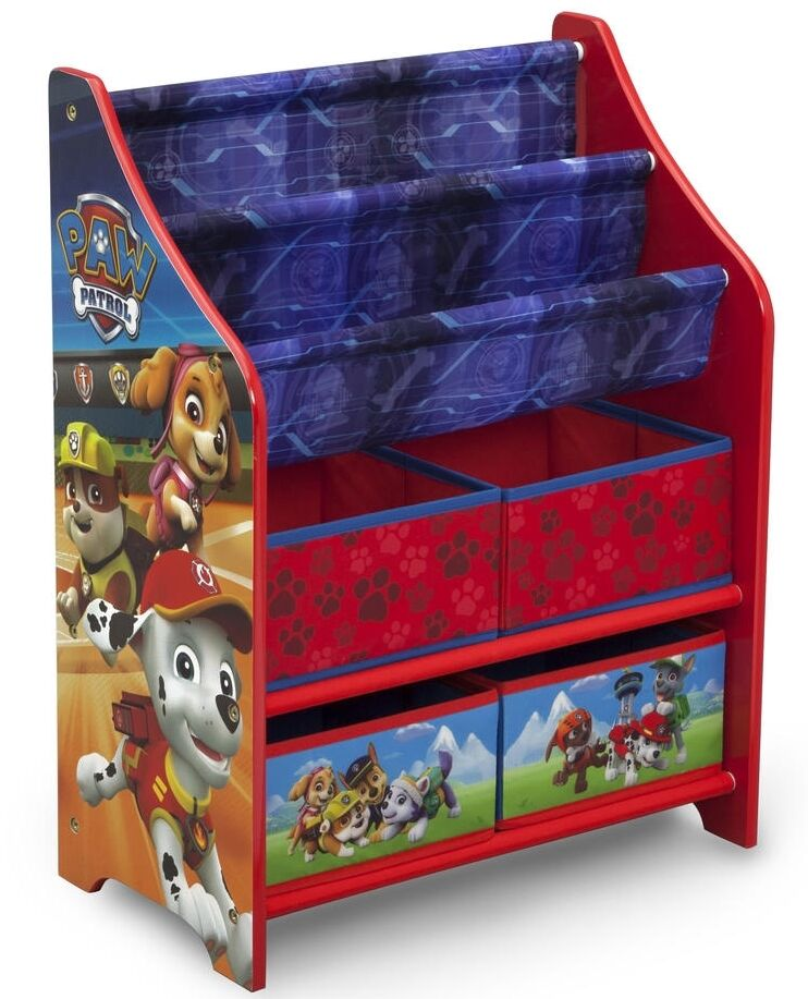 paw patrol b cherregal spielzeugkiste kinderregal spielzeugboxen holzregal regal ebay. Black Bedroom Furniture Sets. Home Design Ideas