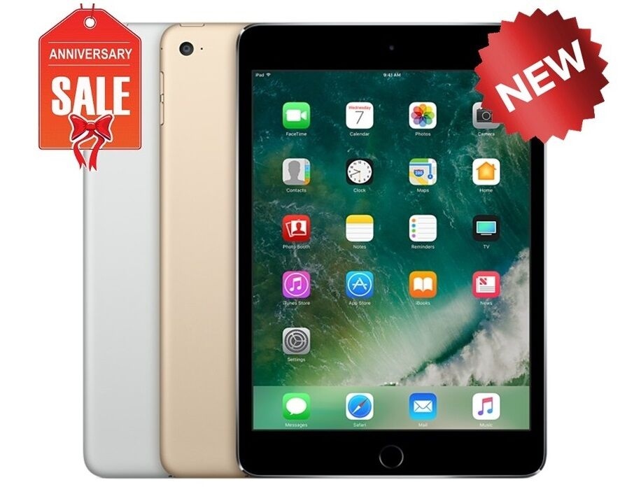 new apple ipad mini 4 32gb wifi retina display 7 9 touch id gold gray silver ebay. Black Bedroom Furniture Sets. Home Design Ideas