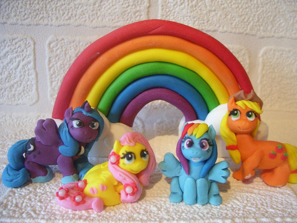 Vintage Rainbow Cake Decoration Edible : handmade edible cake decorations toppers MY LITTLE PONY ...
