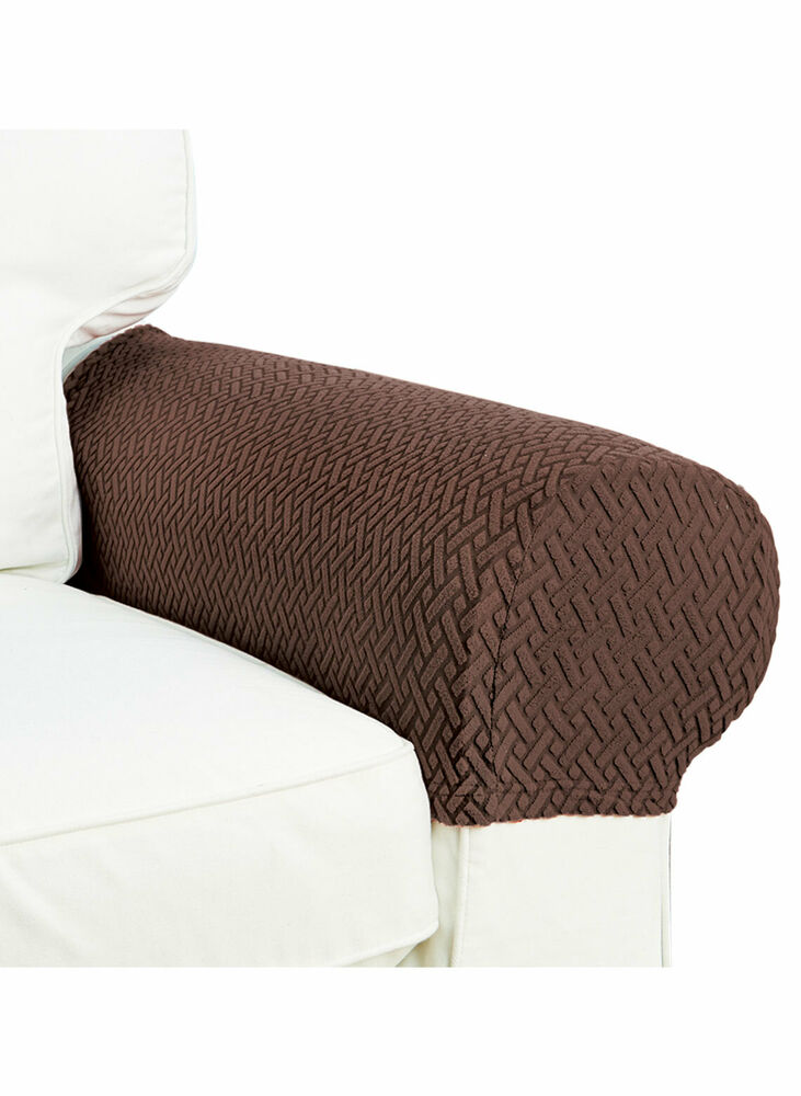 Armrest Covers Stretchy Set Chair or Sofa Arm Protectors ...