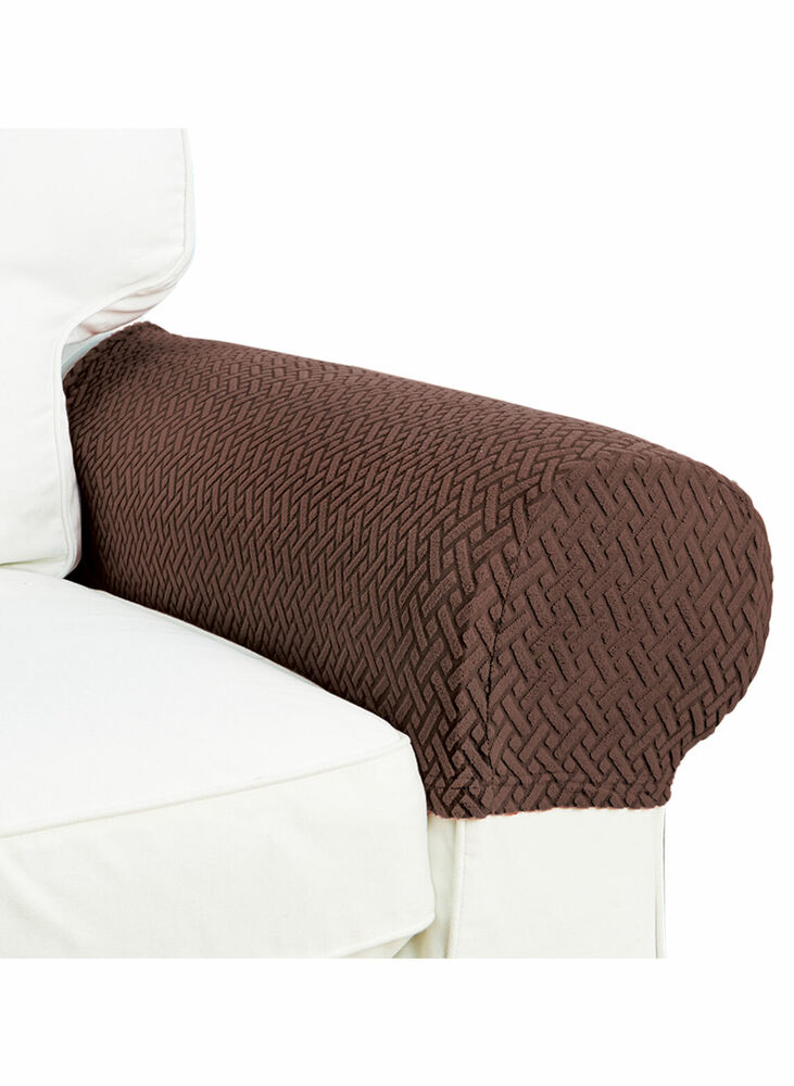2 Piece Armrest Covers Stretchy Set Chair or Sofa Arm ...