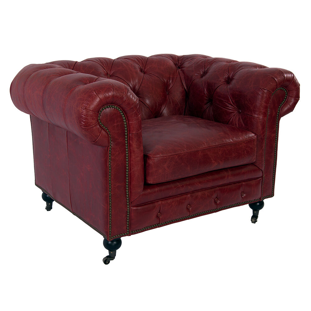 clubsessel chesterfield vintage leder royal rouge designsessel ledersessel 634480555455 ebay. Black Bedroom Furniture Sets. Home Design Ideas