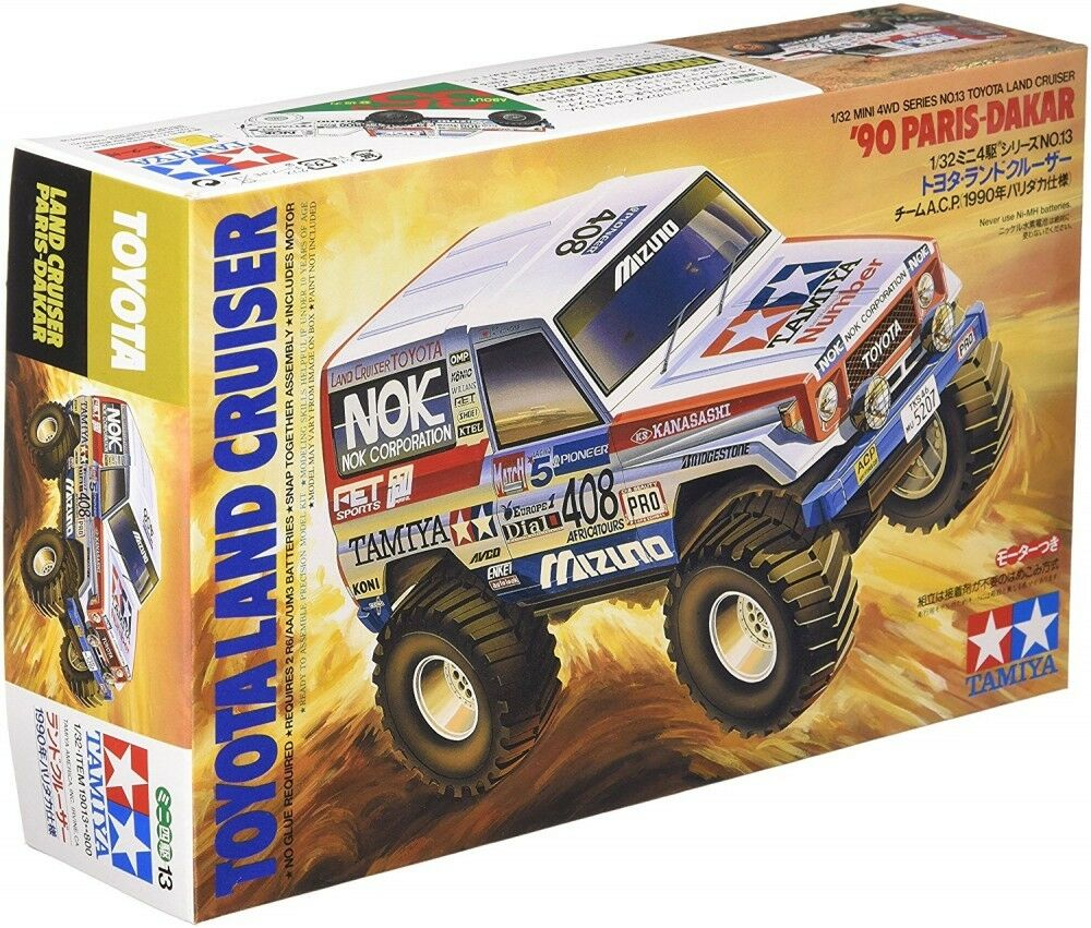 Tamiya Mini 4WD Toyota Land Cruiser '90 Paris-Dakar 1/32