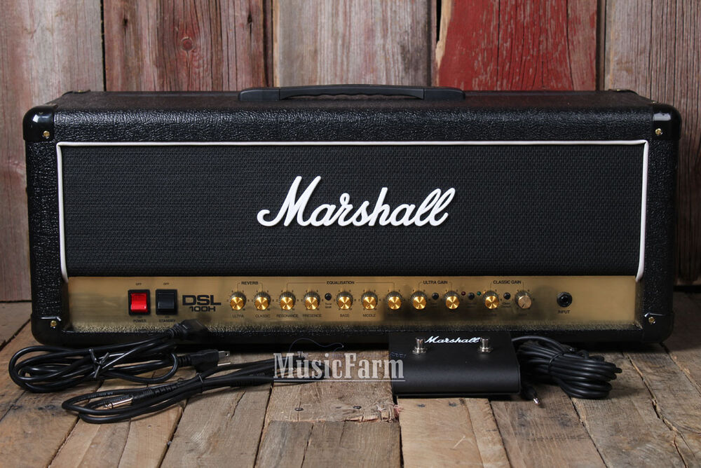 marshall dsl100h electric guitar amplifier head 100 watt tube amp w footswitch 5030463303887 ebay. Black Bedroom Furniture Sets. Home Design Ideas
