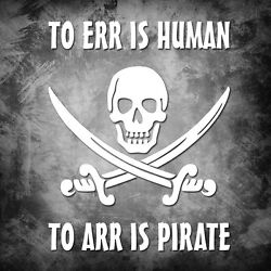 To Err Is Human, To Arr Is Pirate - Pirates of the Caribbean vinyl decal