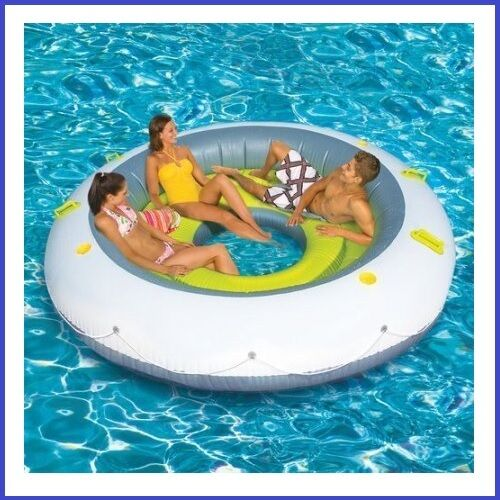 Party Island Beach: Inflatable Oasis Floating Island Pool Lake Water Party