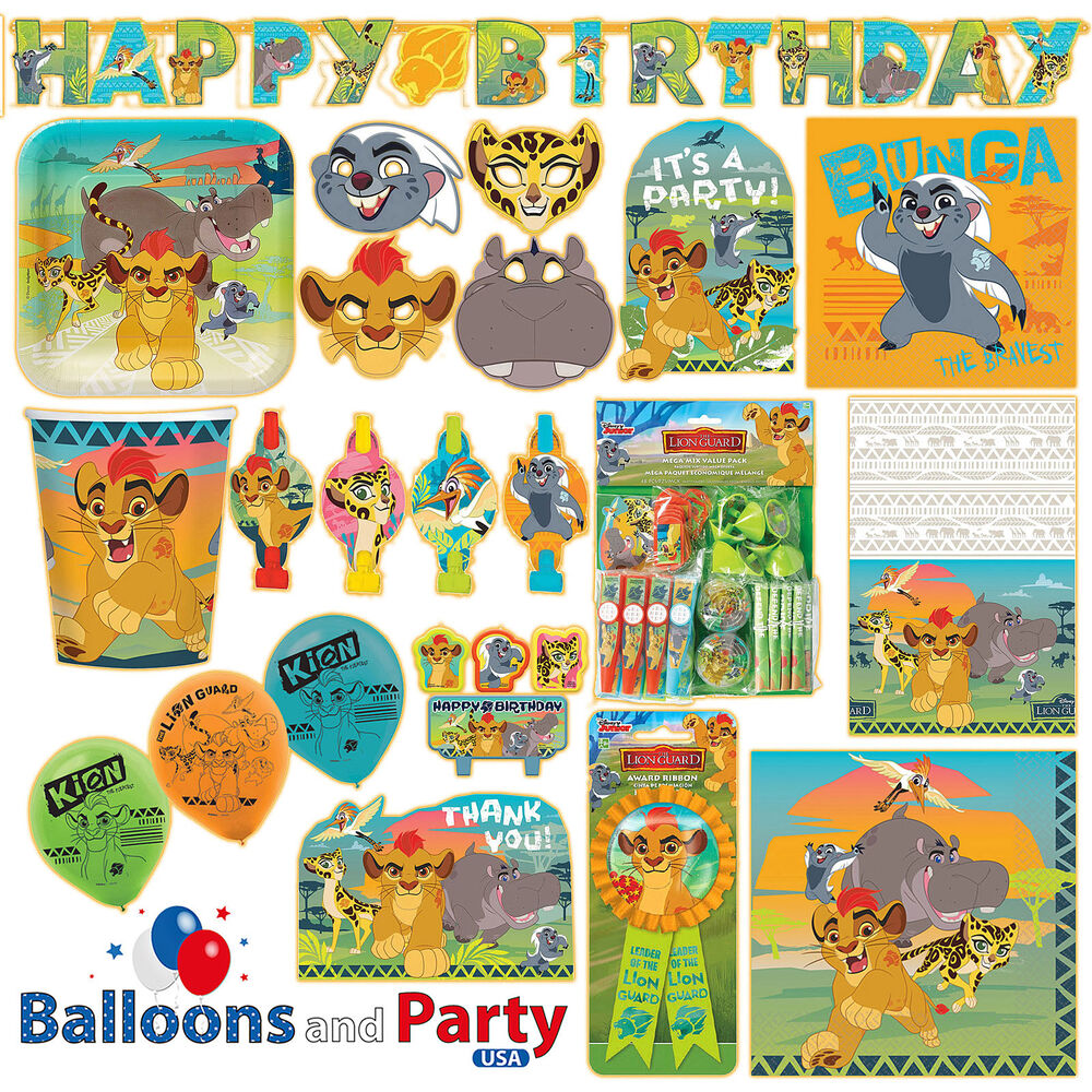 disney lion guard king birthday party tableware