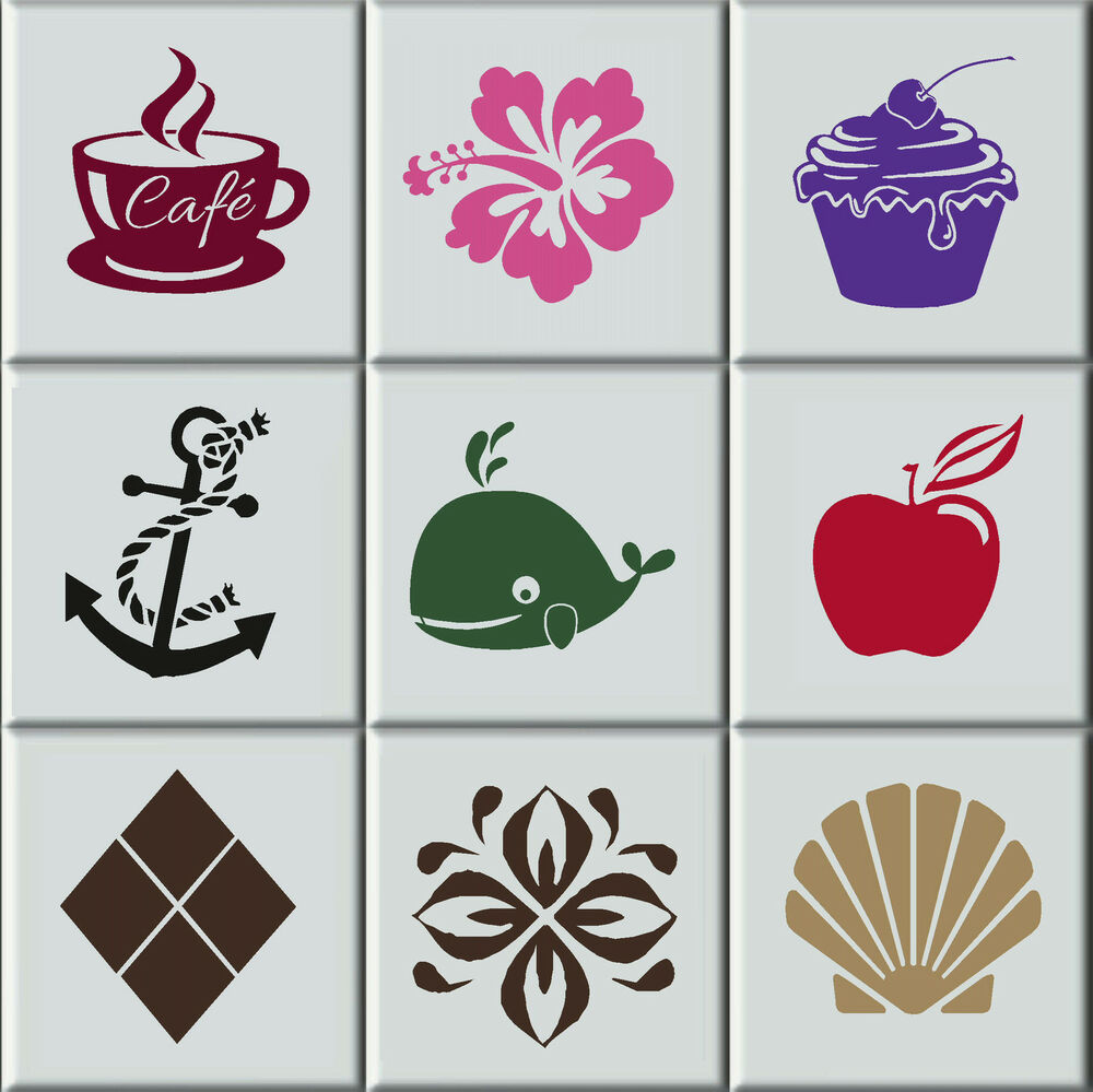 ceramic tile decals bathroom tile stickers transfers bathroom kitchen intrerior home 17640