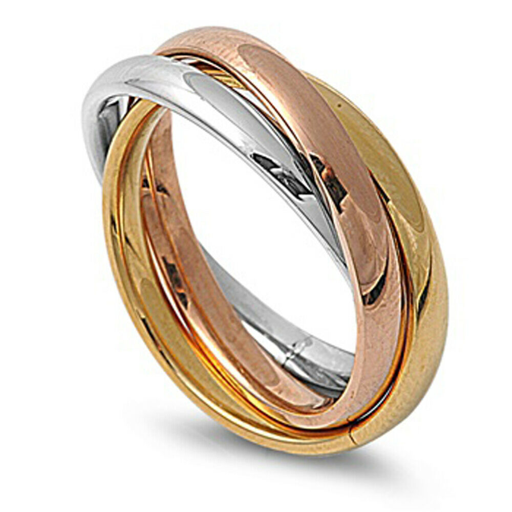 Gold Tone Stainless Steel Rings