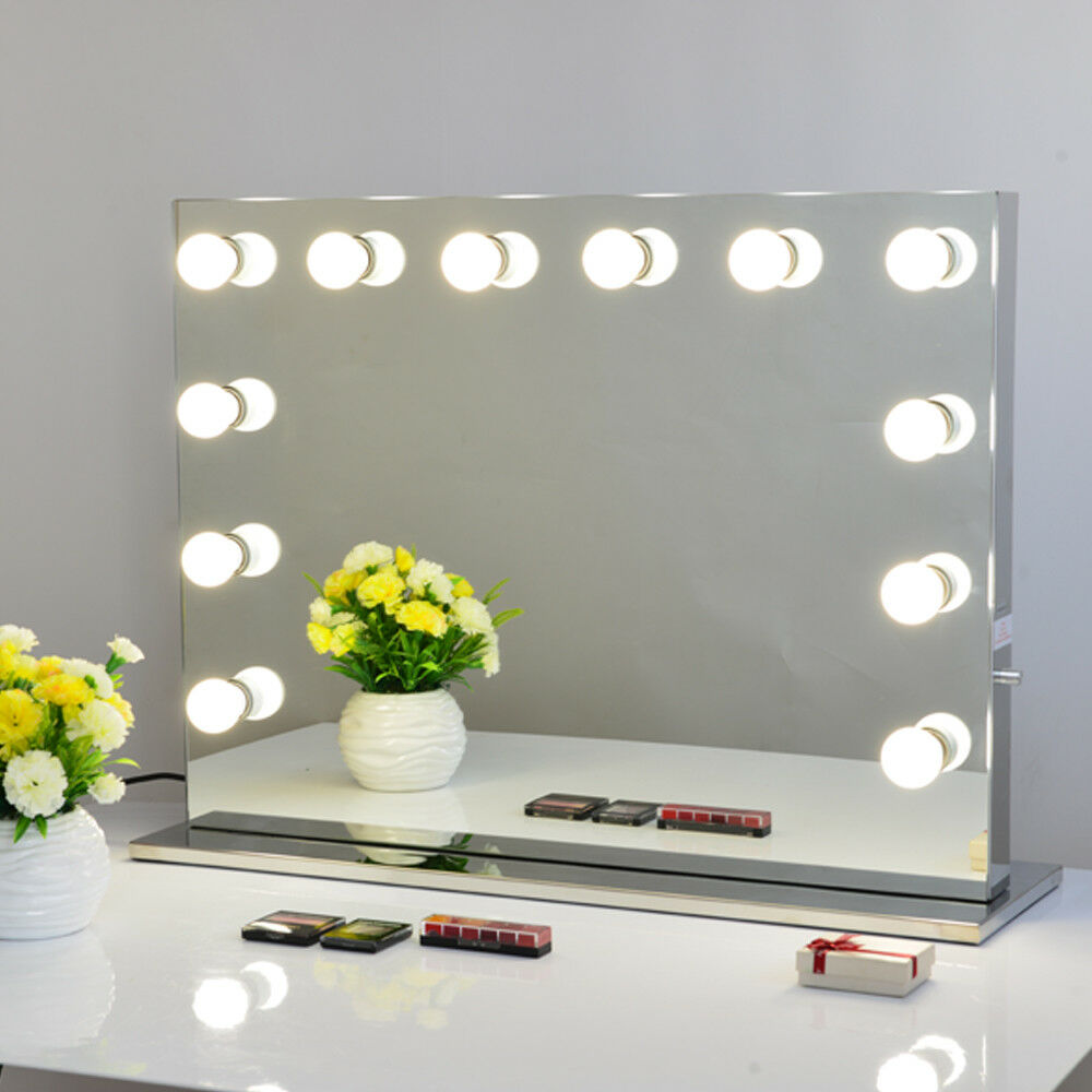 Frameless Vanity Mirror Hollywood Styletabletop Mirror