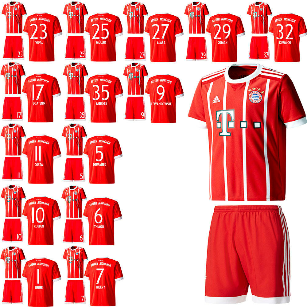 adidas fc bayern munich fcb football home kit set jersey. Black Bedroom Furniture Sets. Home Design Ideas