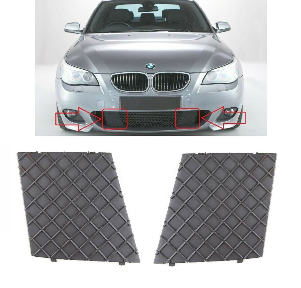 bmw e60 e61 m paket gitter grill blende vorne sto stange paar links rechts neu ebay. Black Bedroom Furniture Sets. Home Design Ideas