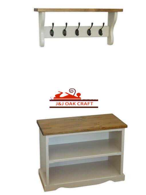 Hall Storage Bench Coat Hook Shelf And Shoe Storage Unit