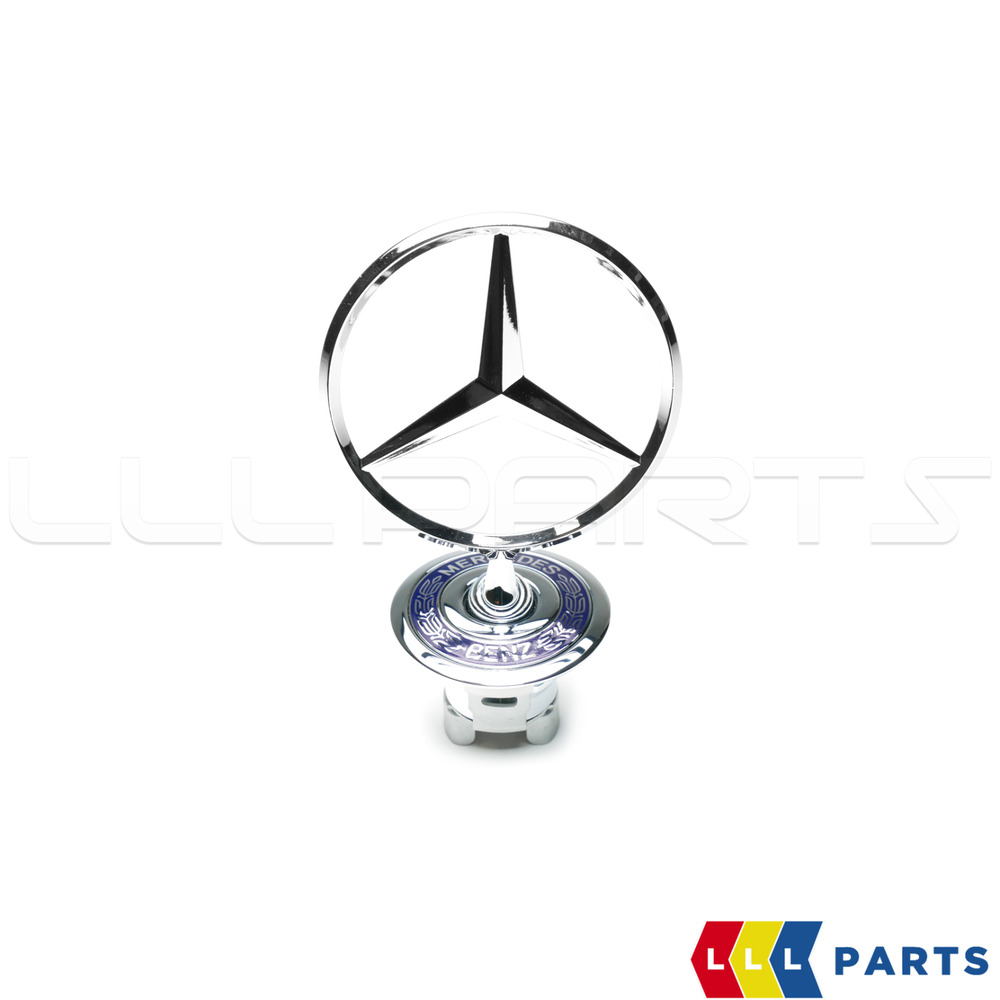 new genuine mercedes mb clk c s bonnet star stand up badge. Black Bedroom Furniture Sets. Home Design Ideas