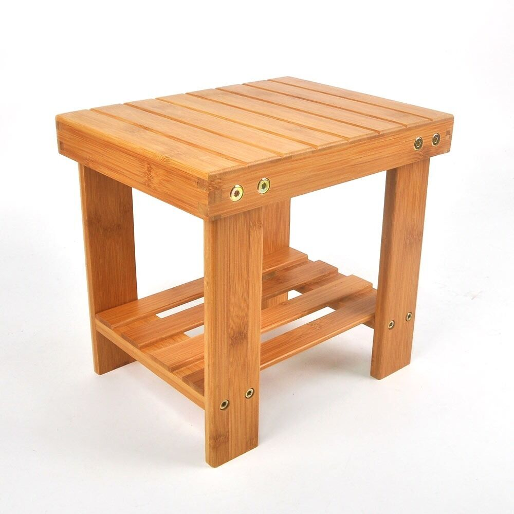 Children Bench Seat Shower Seat Stool Bamboo Safety Chair with ...