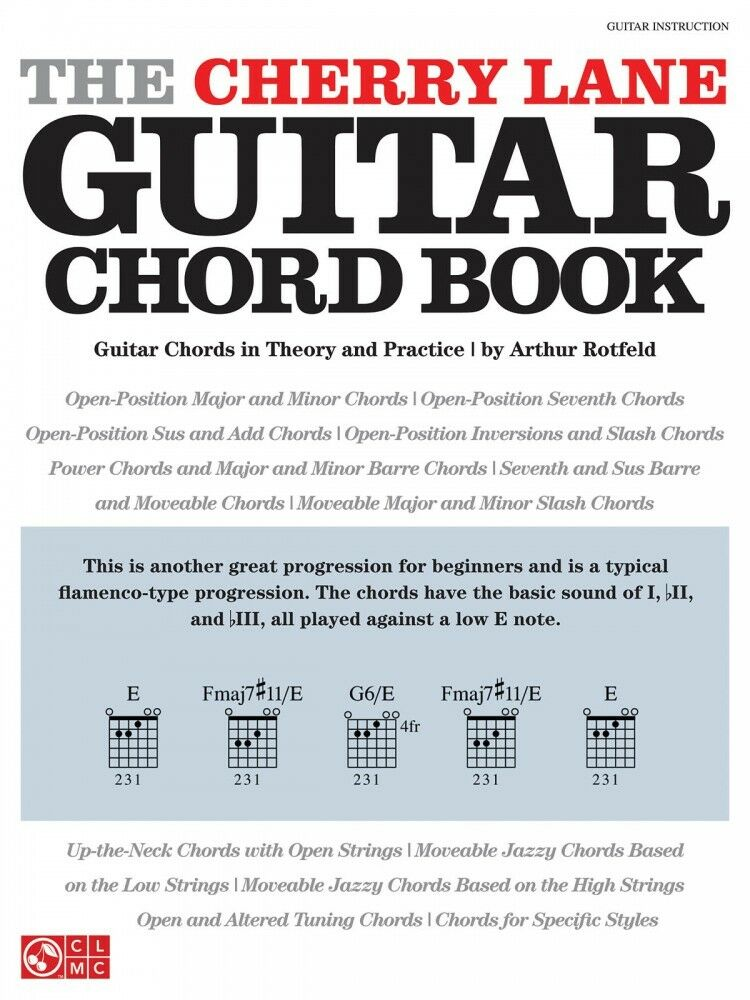 The Cherry Lane Guitar Chord Book Guitar Chords In Theory And