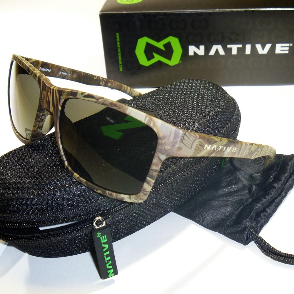 3fcb55b142 Details about Native Flatirons Polarized Sunglasses-Realtree Camo Max1  Frame N3 Gray Lenses