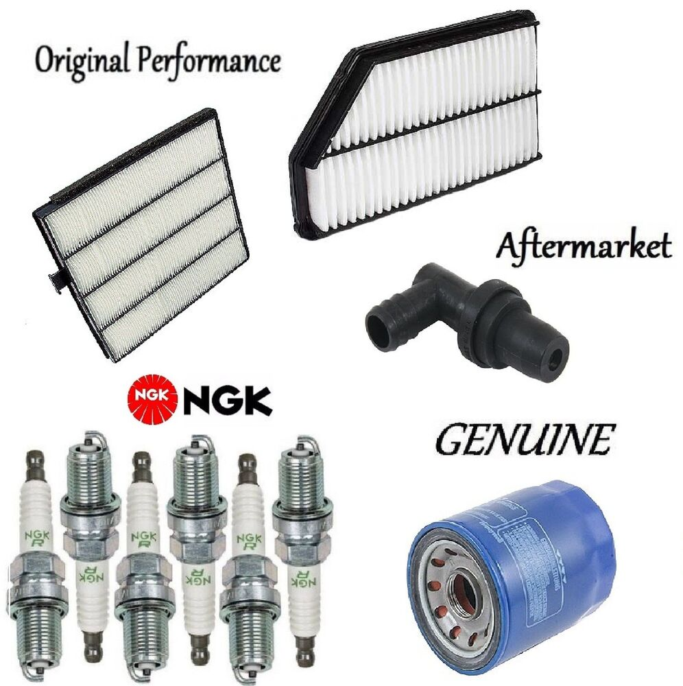 Tune Up Kit Cabin Air Oil Filter Spark Plugs For Acura MDX