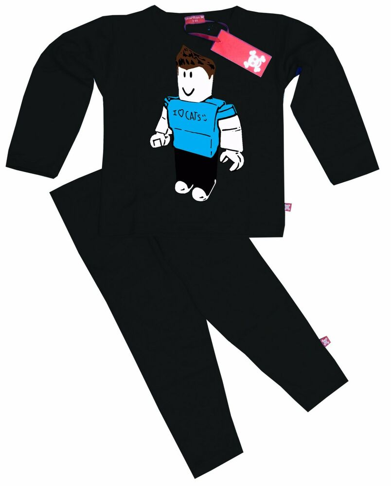 b277fea5aa Details about Stardust Ethical Kids Childrens DENIS Roblox YouTube Gamer  Pyjamas (Black)