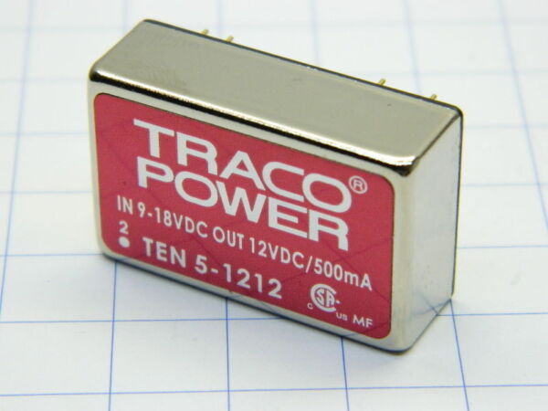 DC-DC Converter TRACO POWER TEN5-1212, in 9-18Vdc , out 12Vdc 0,5A #