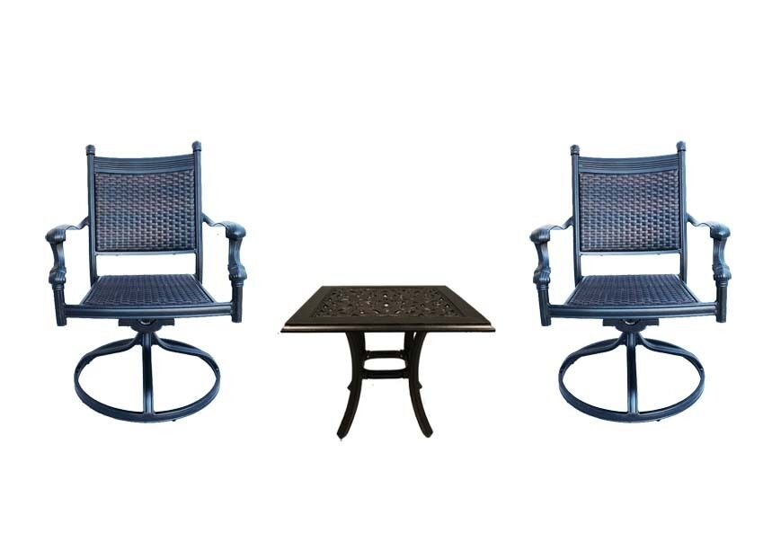 Patio Bistro Table And Chairs Outdoor Swivel Rocker Chair