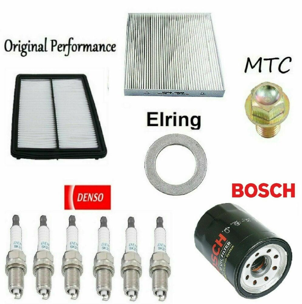 Tune Up Kit Filters Air Cabin Air Oil Drain Plug For Acura