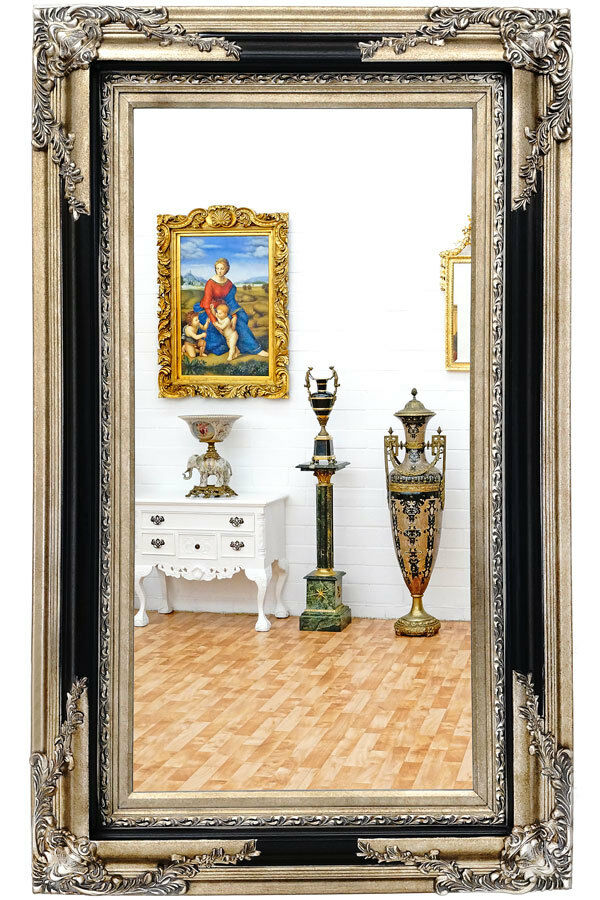 pure classic wandspiegel holz rahmen spiegel gro. Black Bedroom Furniture Sets. Home Design Ideas