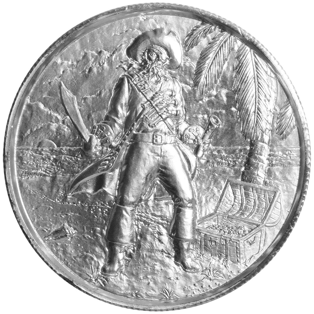 2 Troy Oz Privateer The Captain 999 Fine Silver Ultra