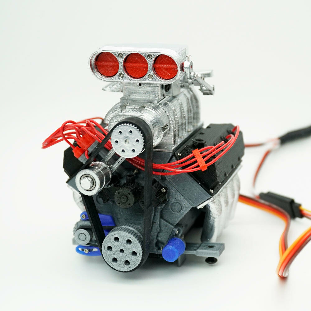 darkdragonwing 1 10 rc ohv v8 h fd engine painted. Black Bedroom Furniture Sets. Home Design Ideas