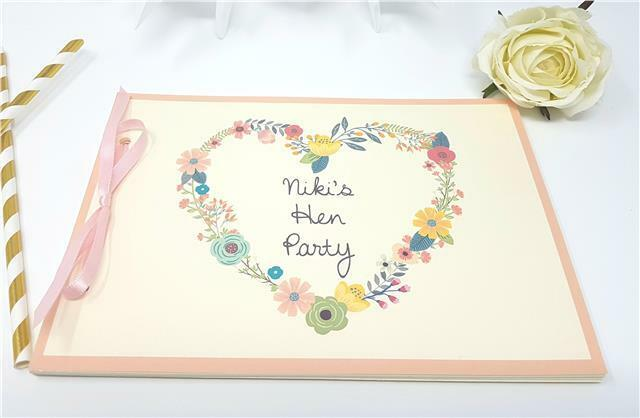 A5 Hen Night Birthday Guest Book **UNICORN** Personalised 20 page HANDMADE