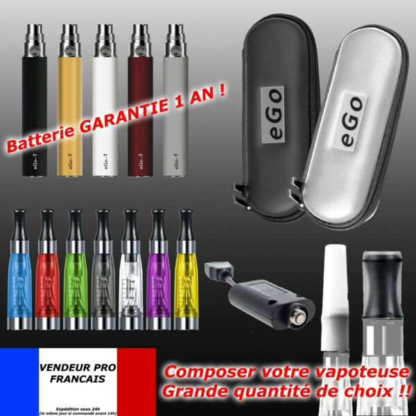 Cigarette Electronique EGO-T ORIGINAL Batterie 1100mAh Atomiseur CE4 Chargeur