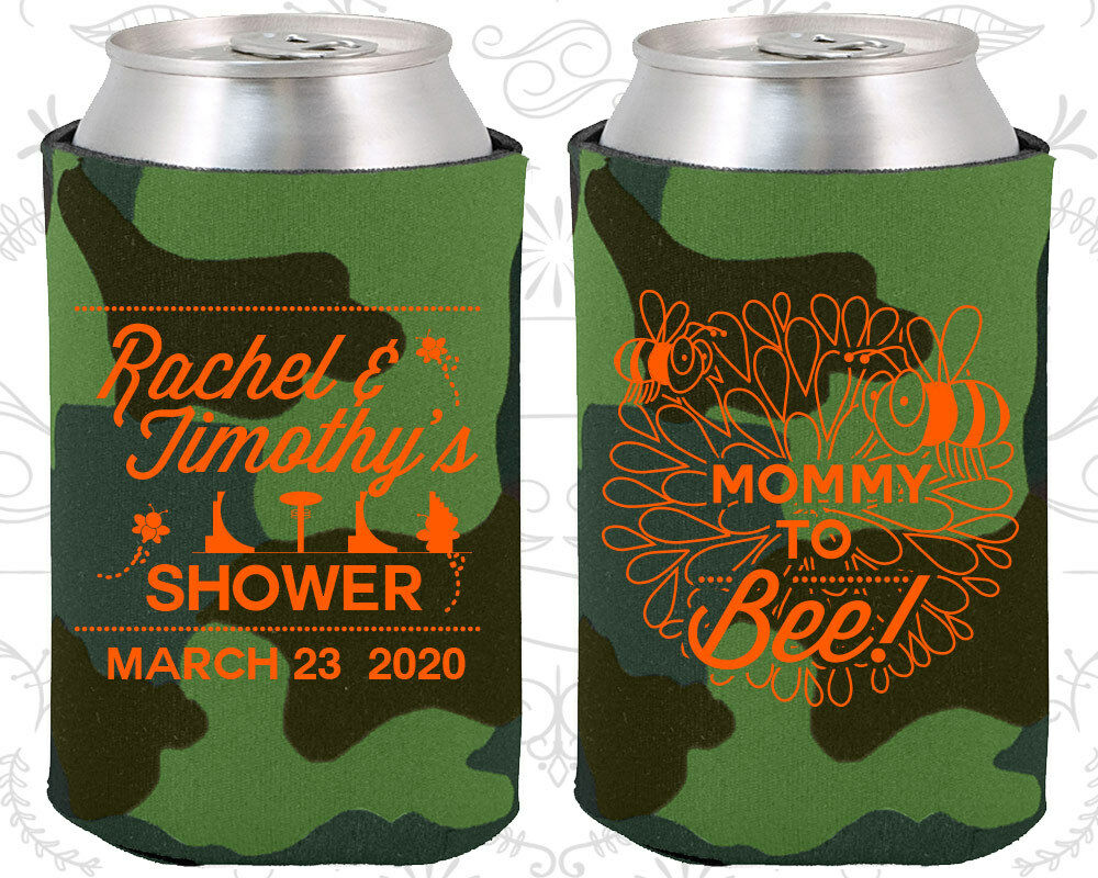 Baby Shower Koozies Koozie Decorations 90017 Mommy To Be Bumble Bee Floral