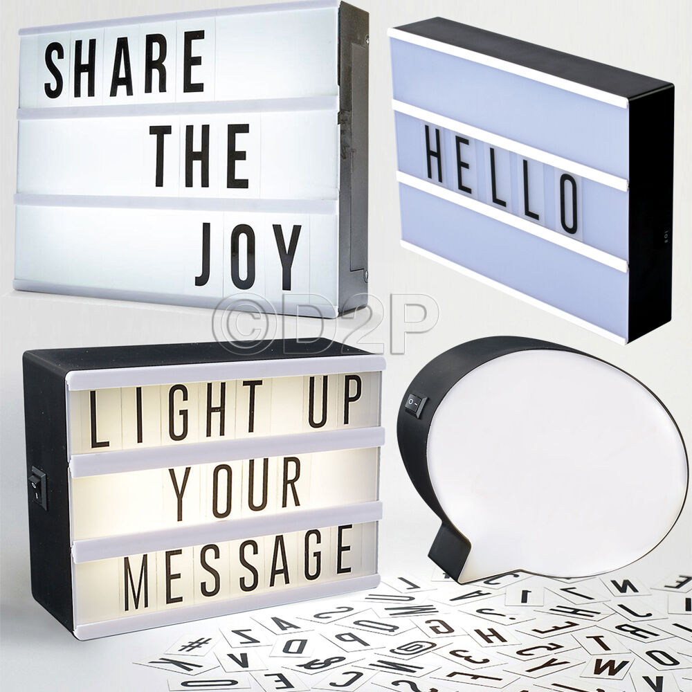 box letter alphabet led light message display box with letters symbols word 210