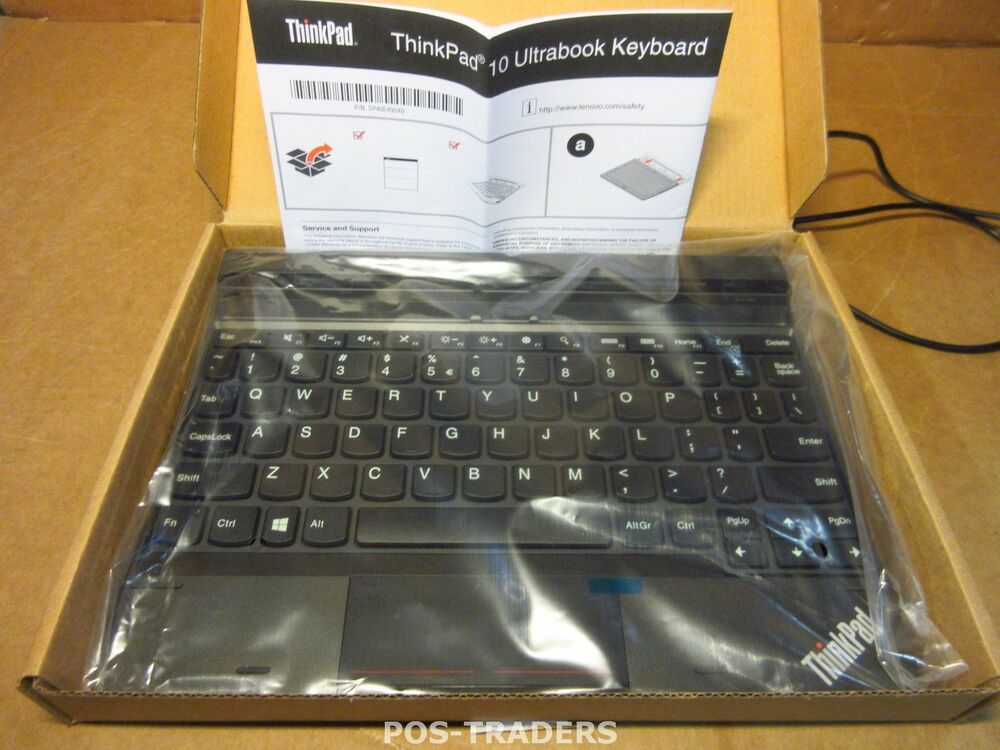 Lenovo 4x30e68140 Thinkpad 10 Ultrabook Keyboard Qwerty Euro Symbol