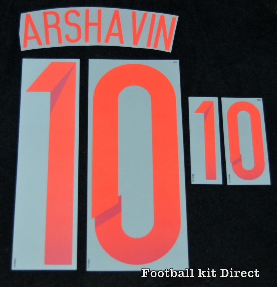 6ce281f4b ... Soccer Jersey Russia Arshavin 10 world cup 2014 Football Shirt Name Set  Away Sporting ID eBay ...